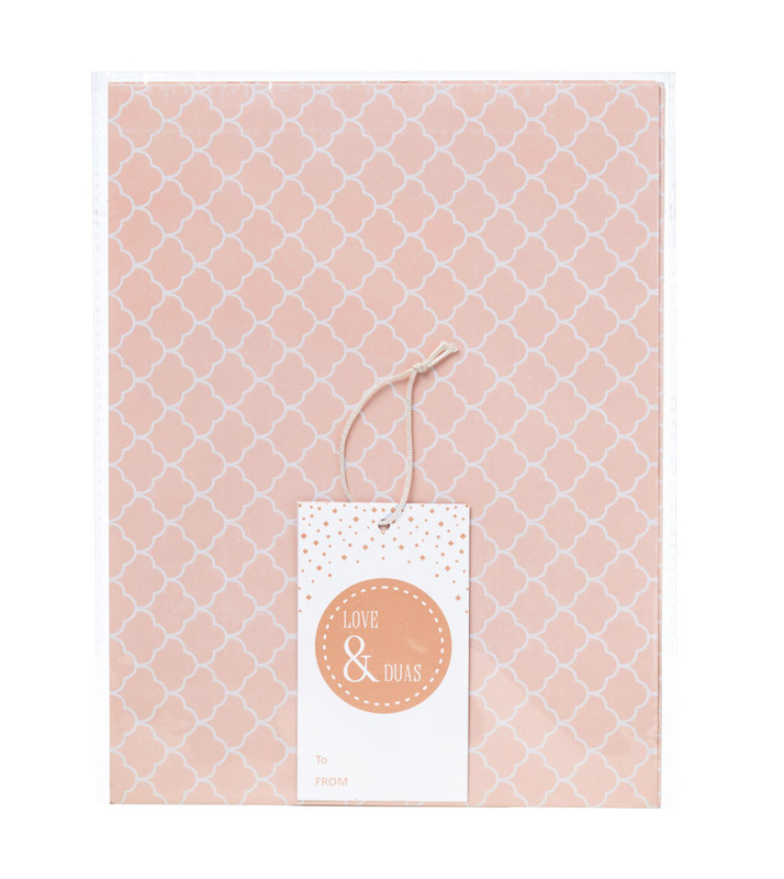 GW03 - Love & Du'as Gift Wrap and Tag - Blush