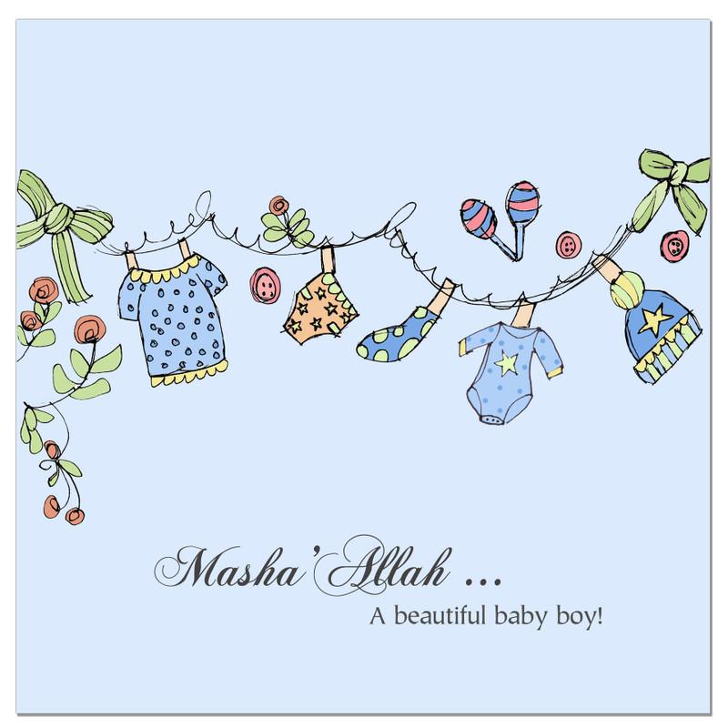 CD05 - Blue Clothes Line - Masha Allah