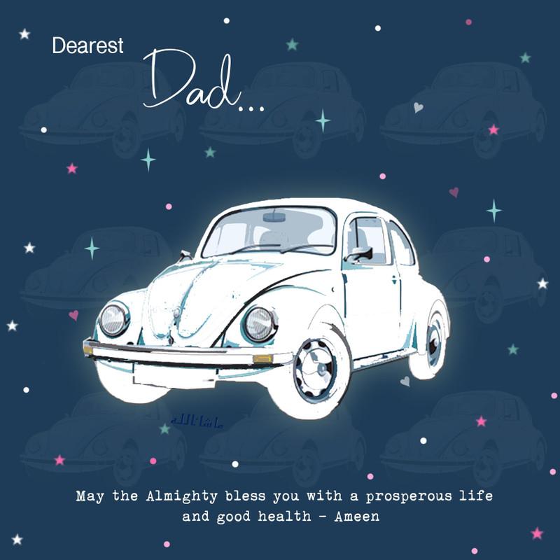 BJ18 - Dad - Navy car card