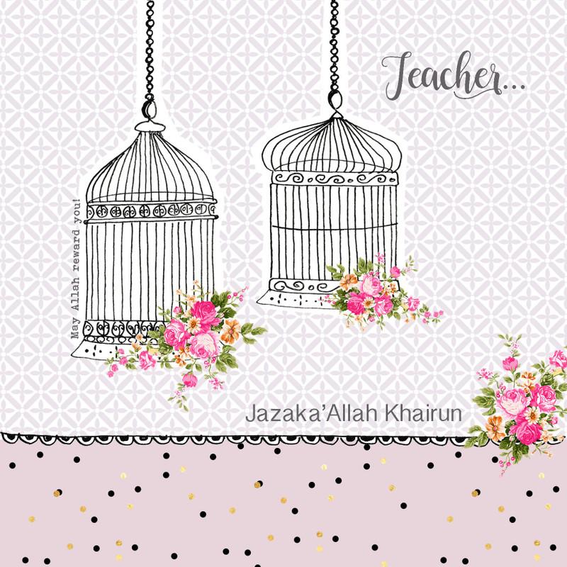 BB10 - Jazak'Allah Kair... Teacher - Birdcages Lilac