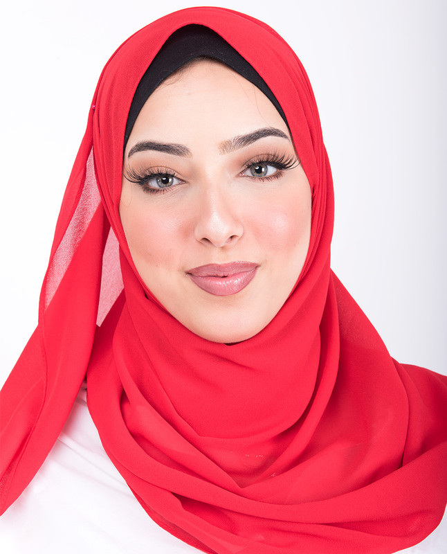 Tango Red Georgette Scarf