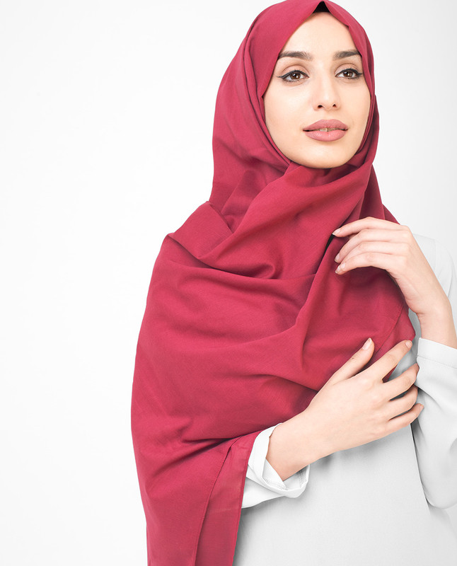 Barberry Cotton Voile Scarf