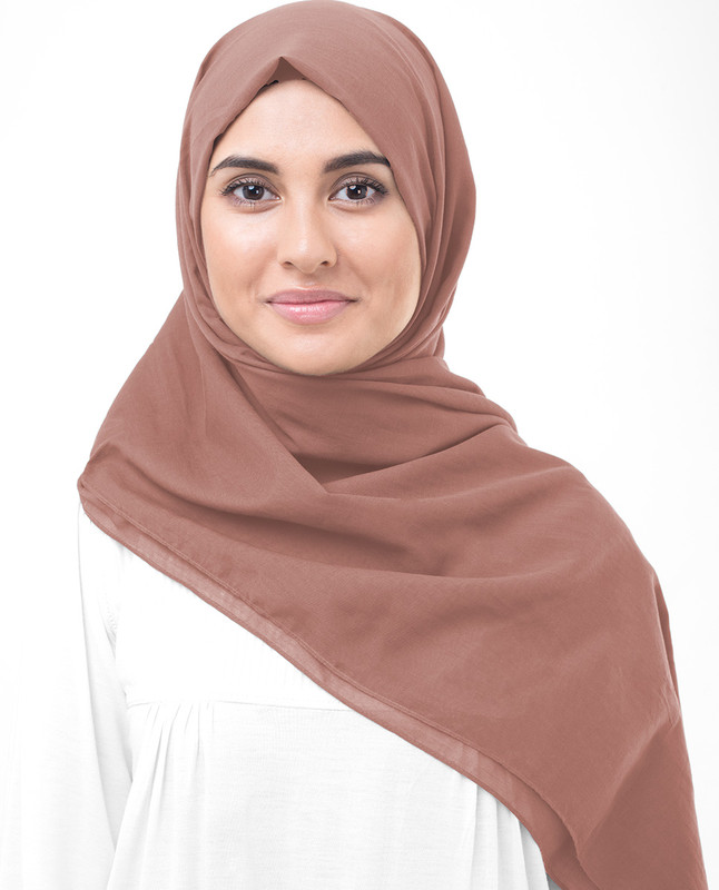 Canyon Clay Cotton Voile Scarf