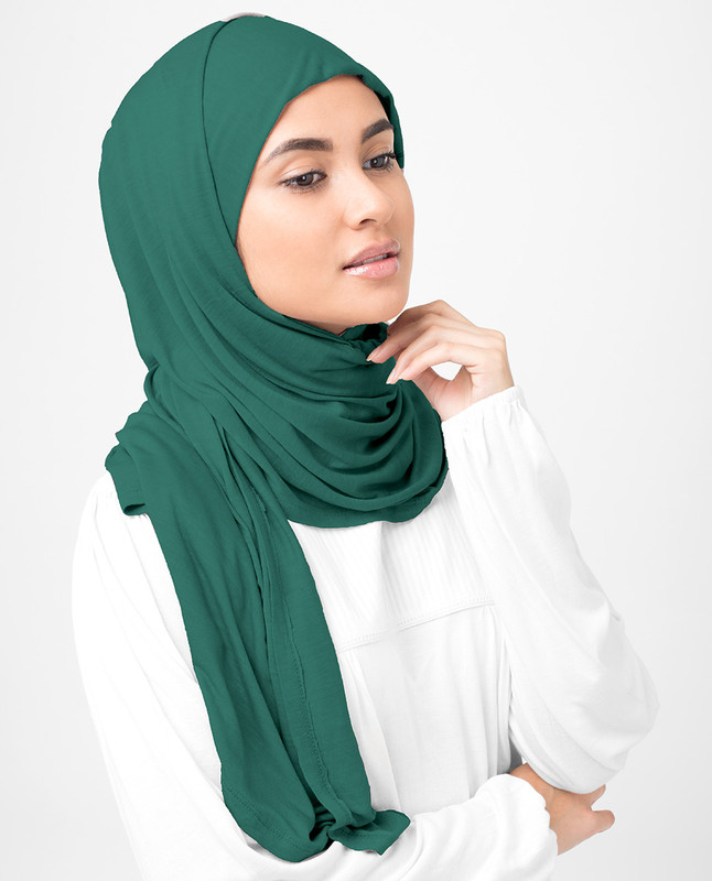 Ivy Green Viscose Jersey Scarf
