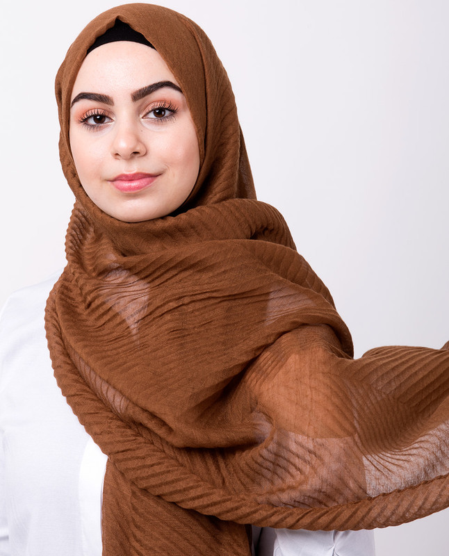 Maple Sugar Cotton Mix Crunchy Scarf