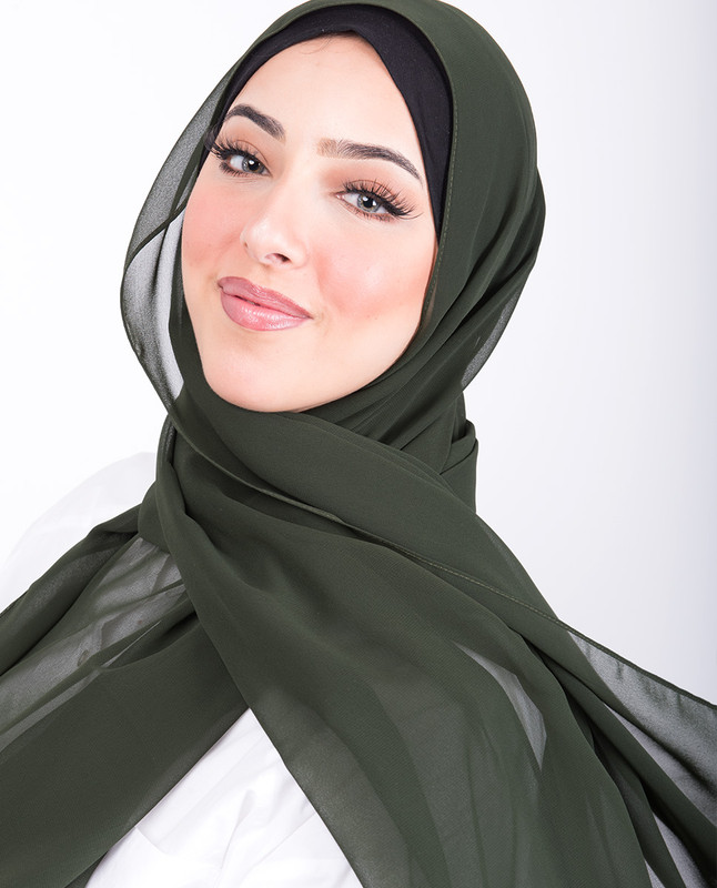 Pineneedle Poly Georgette Scarf