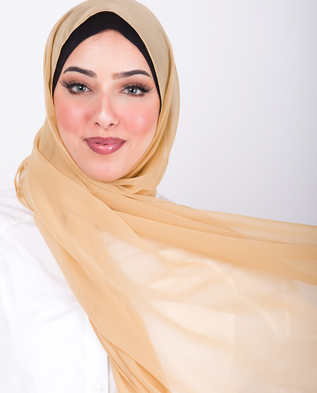 Sunset Gold Poly Georgette Scarf