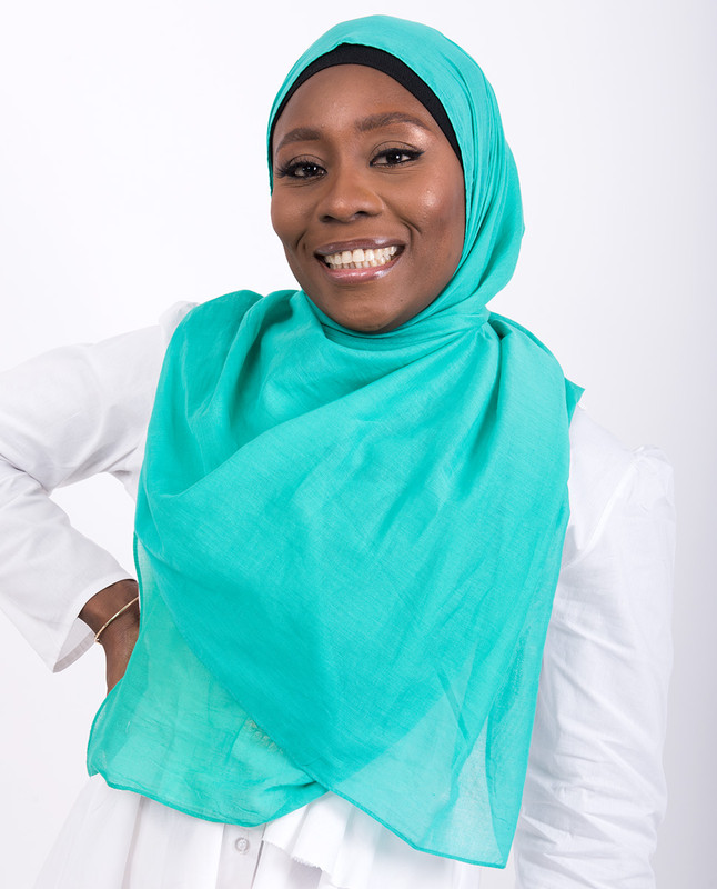Aqua Green Cotton Voile Scarf