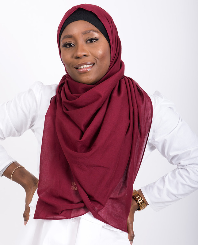 Red Rumba Cotton Voile Scarf