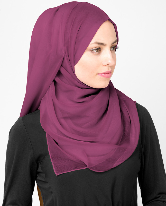 Boysenberry Poly Chiffon Scarf