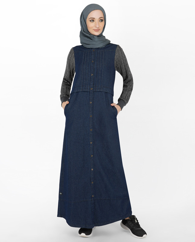 Denim & Cable Knit Jilbab