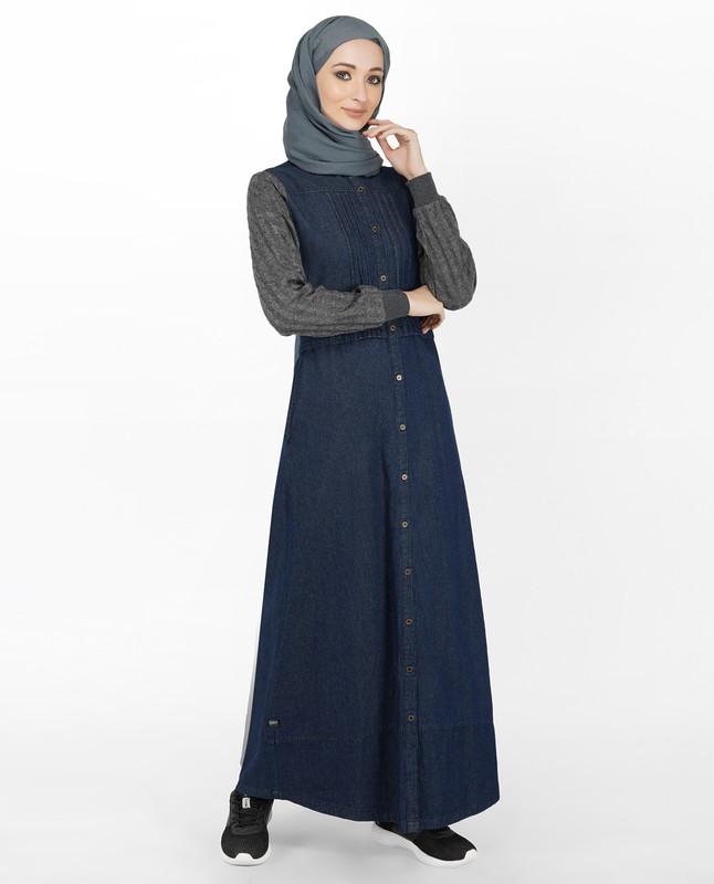 Denim & Cable Knit Jilbab