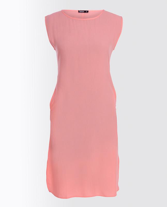 Peach Bud Pink Rayon Slip Dress