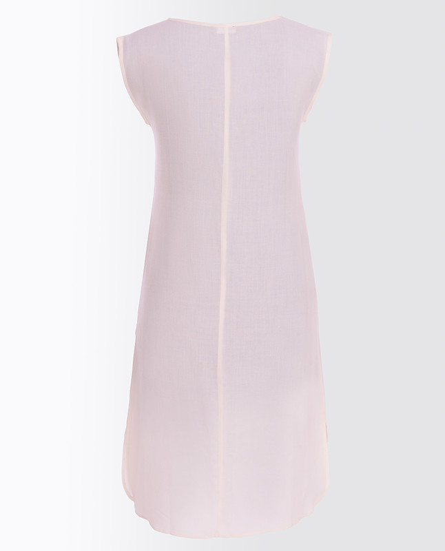 Cloud Dancer White Rayon Slip Dress