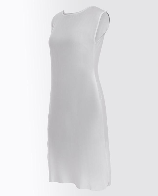 Bright White Rayon Slip Dress