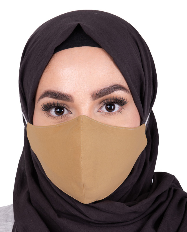 Rattan Hijab Friendly Button Fabric Mask