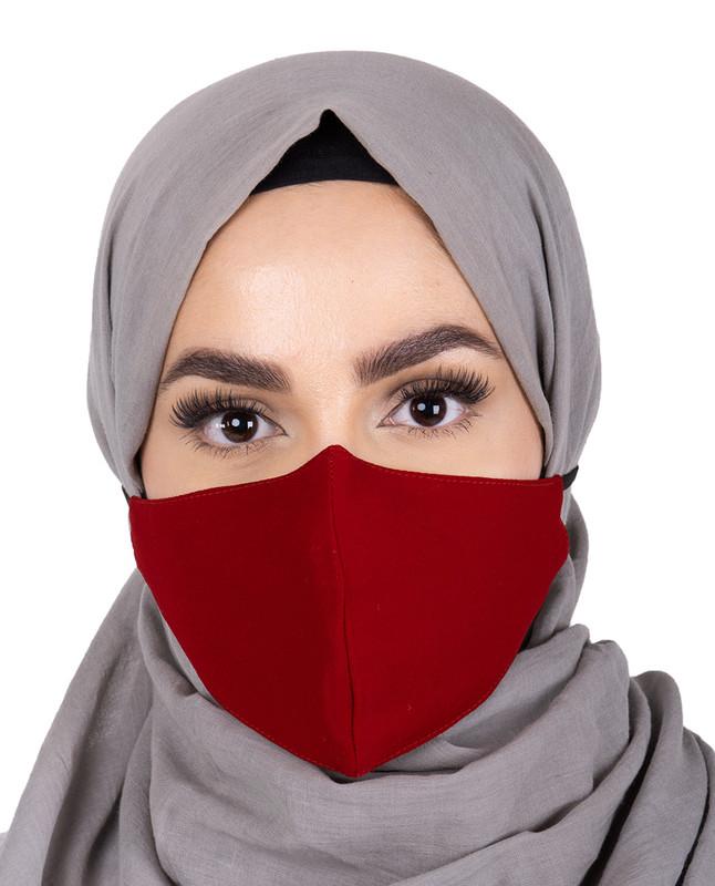 Chilli Pepper Hijab Friendly Button Fabric Mask