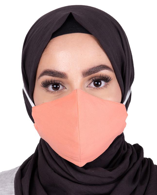 Pale Pink Hijab Friendly Toggle Fabric Mask