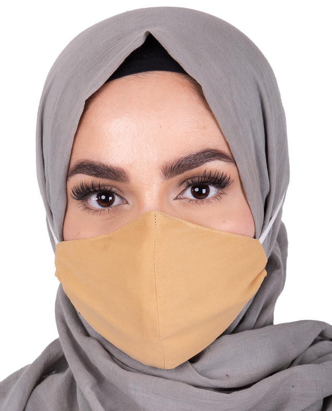 Sunset Gold Hijab Friendly Toggle Fabric Mask