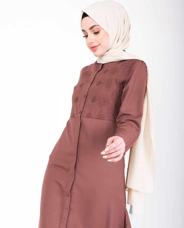 Shifley Cognac Shirt Dress