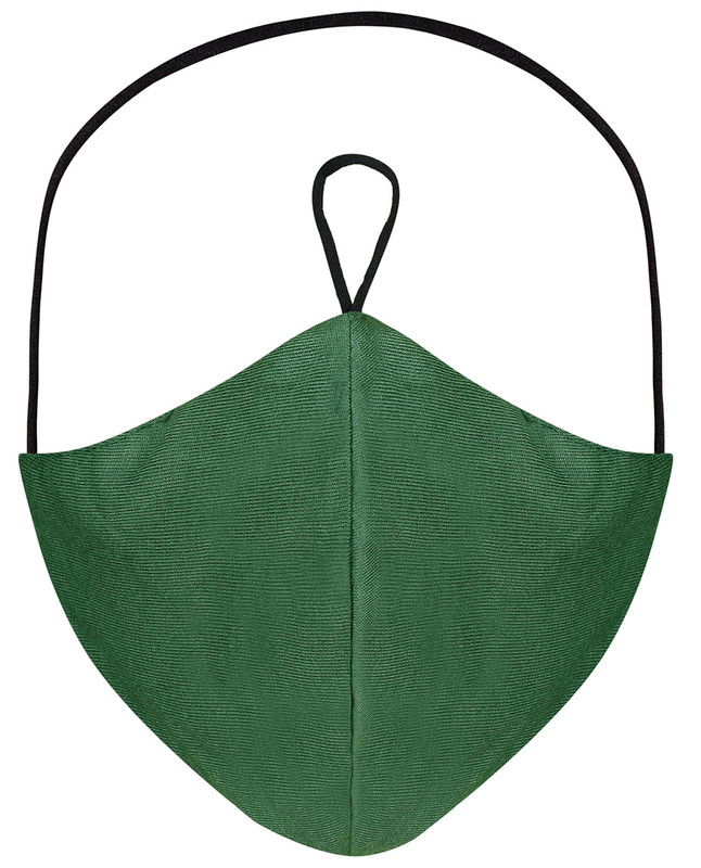 Dark Forest Hijab Friendly Plain Toggle Jersey Cloth Mask