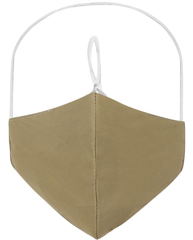 Lemon Grass Hijab Friendly Plain Toggle Georgette Cloth Mask