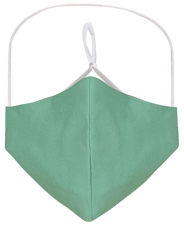 Kashmir Hijab Friendly Plain Toggle Georgette Cloth Mask