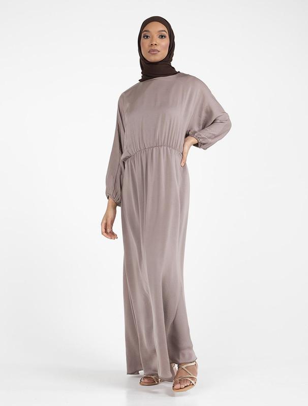 Mocha Batwing Maxi Dress