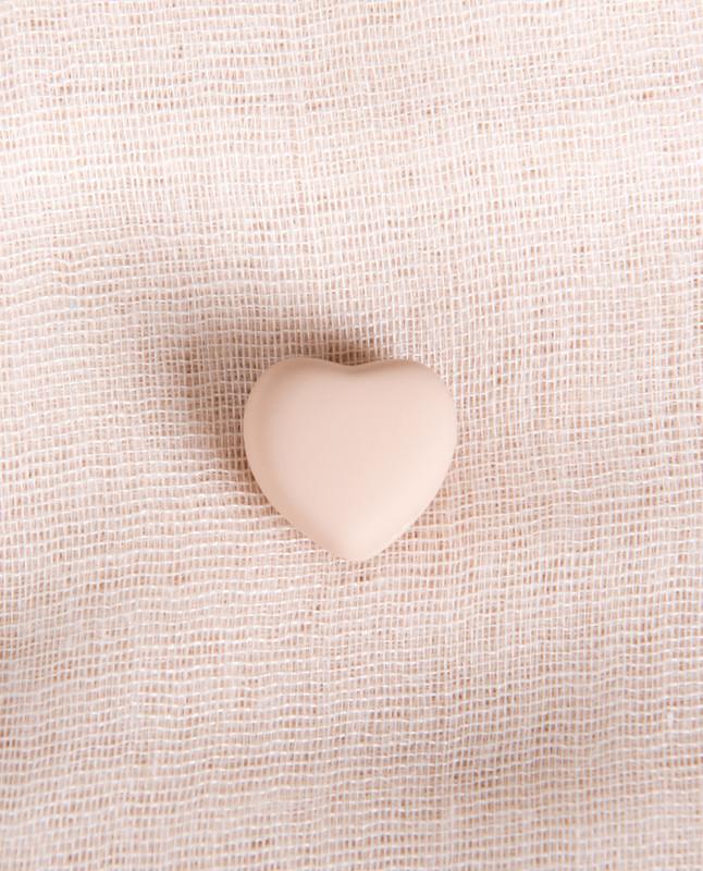 Pink Matte Heart Shaped Hijab Magnets