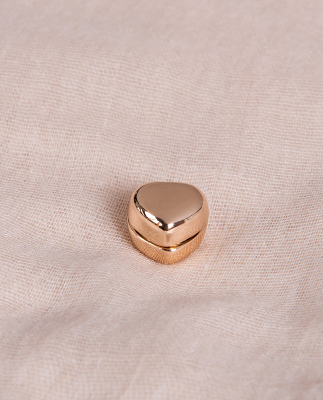 Gold Shine Heart Shaped Hijab Magnets