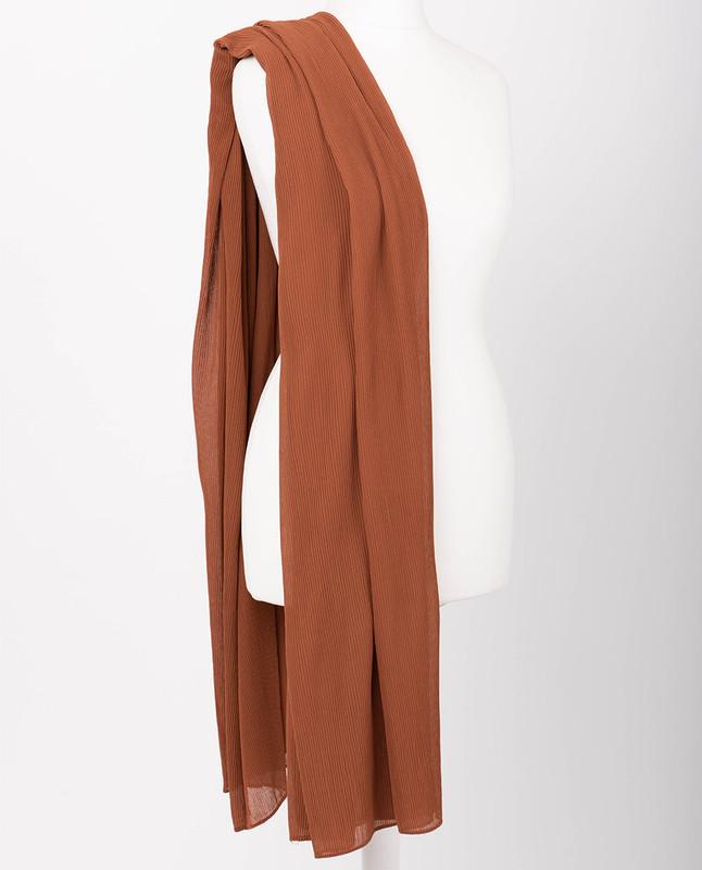 Autumn Glaze Premium Pleated Chiffon Hijab