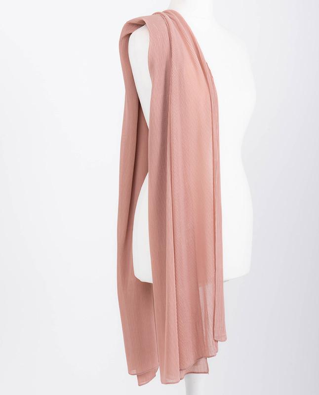 Tropical Peach Premium Pleated Chiffon Hijab