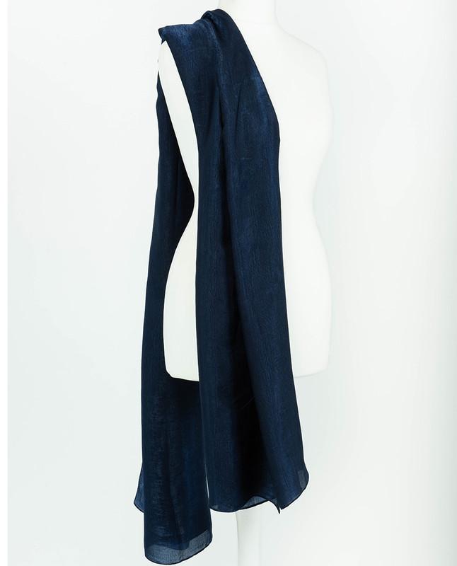 Pageant Blue Premium Crushed Velvet Silk Maxi Hijab