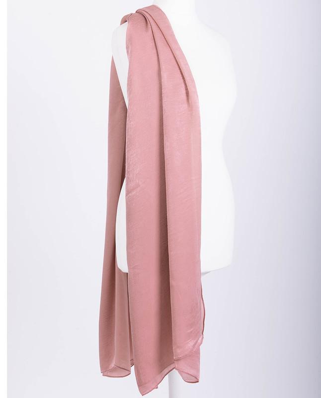 Geranium Pink Premium Crushed Velvet Silk Maxi Hijab
