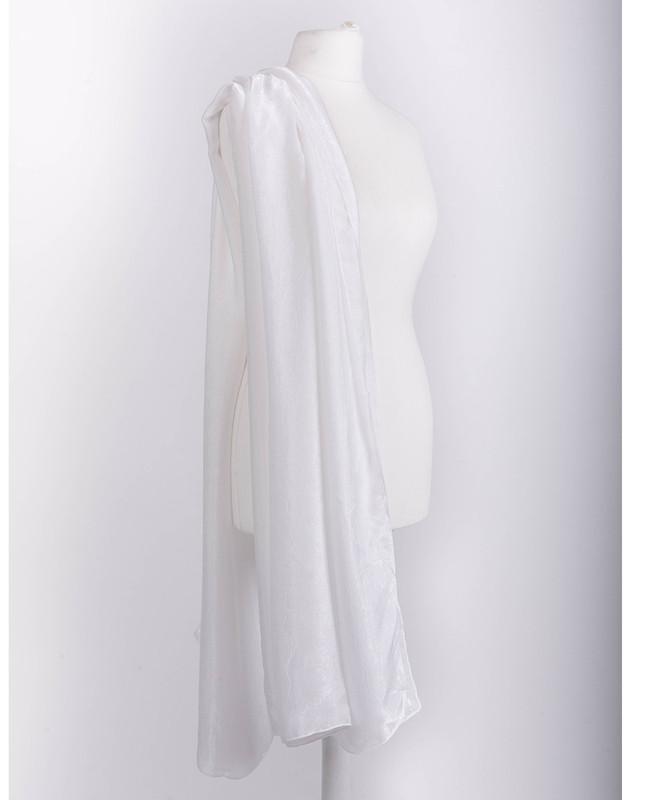 Bright White Premium Crushed Velvet Silk Maxi Hijab