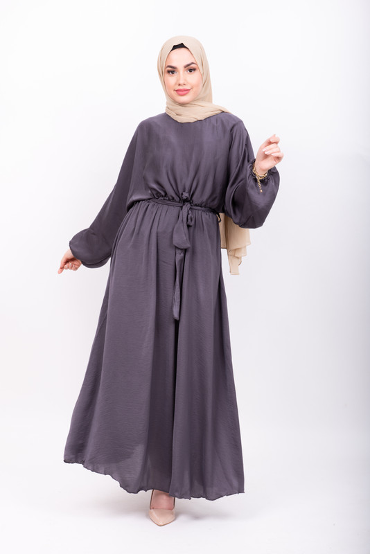 Grey Batwing Maxi Dress