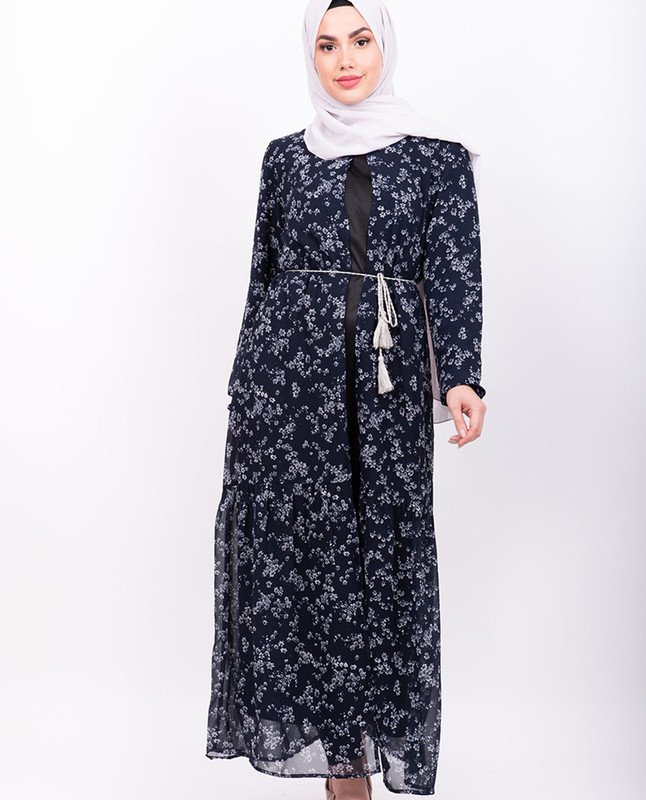 Navy Dainty Floral Outerwear