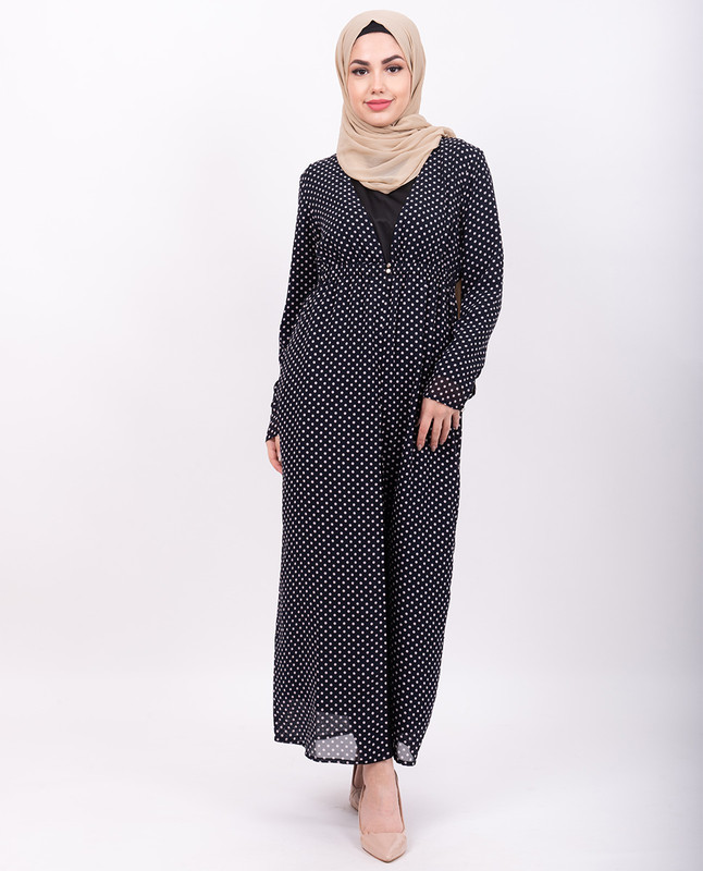 Black Polka Dot Sheer Outerwear