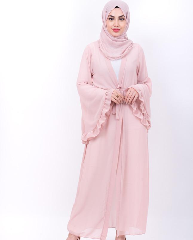 Chiffon Maxi Kimono - Pink
