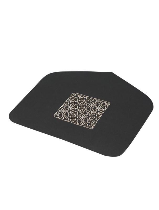 Islamic Geometric Pattern Embroidered Half Prayer Mat
