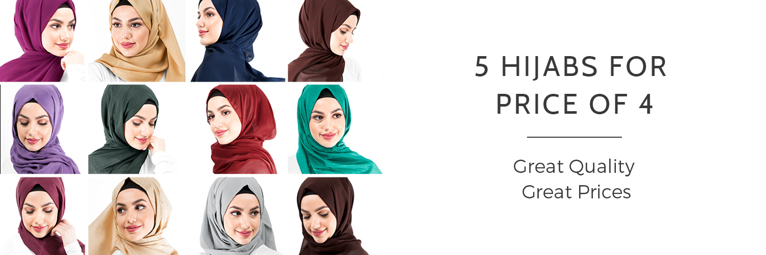 5 hijabs for the price of 4