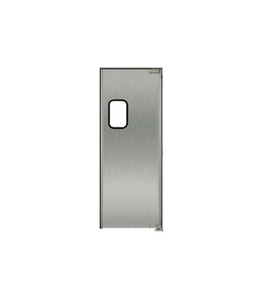 "Stainless Steel Swing Door: Single Panel, Right Side Hinge, 36"" x 84"""