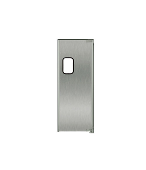"Stainless Steel Swing Door: Single Panel, Right Side Hinge, 36"" x 84"""