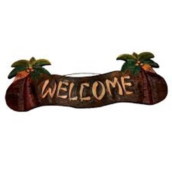 Welcome Palm Tree Sign