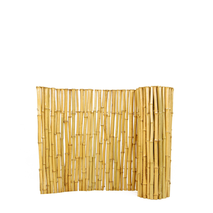 """Natural Bamboo Fence 1"""" D x 2' H x 8' L"""