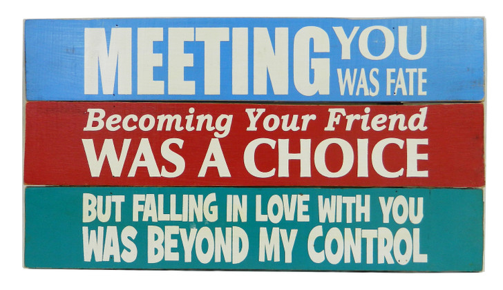 """Retro Board Sign - """" Meeting You Was Fate...."""""""