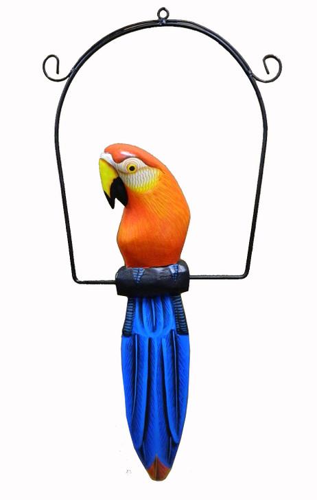 "Hanging Parrot Statue 16"""