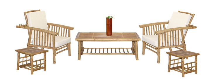 6 Piece Mikong Bamboo Furniture Set