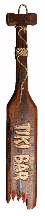 Tiki Bar Wooden Paddle Sign