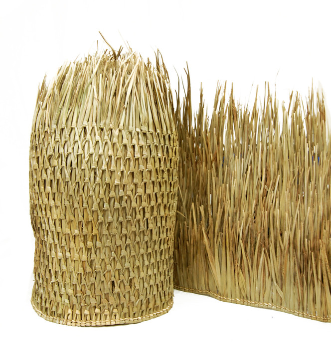 """Mexican Palm Thatch Runner Roll 35"""" H x 10' L (6 Pack)"""
